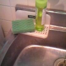 洗剤とスポンジの位置