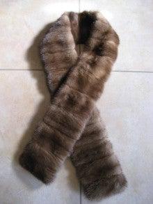 大木毛皮店工場長の毛皮修理リフォーム-ミンクマフラー リフォーム