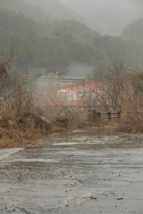 RoadJapan 日本の道路、昭和の旧道を巡る旅-国道19号旧道 賎母 鉄橋方面