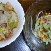白菜と豚の蒸し煮・も…