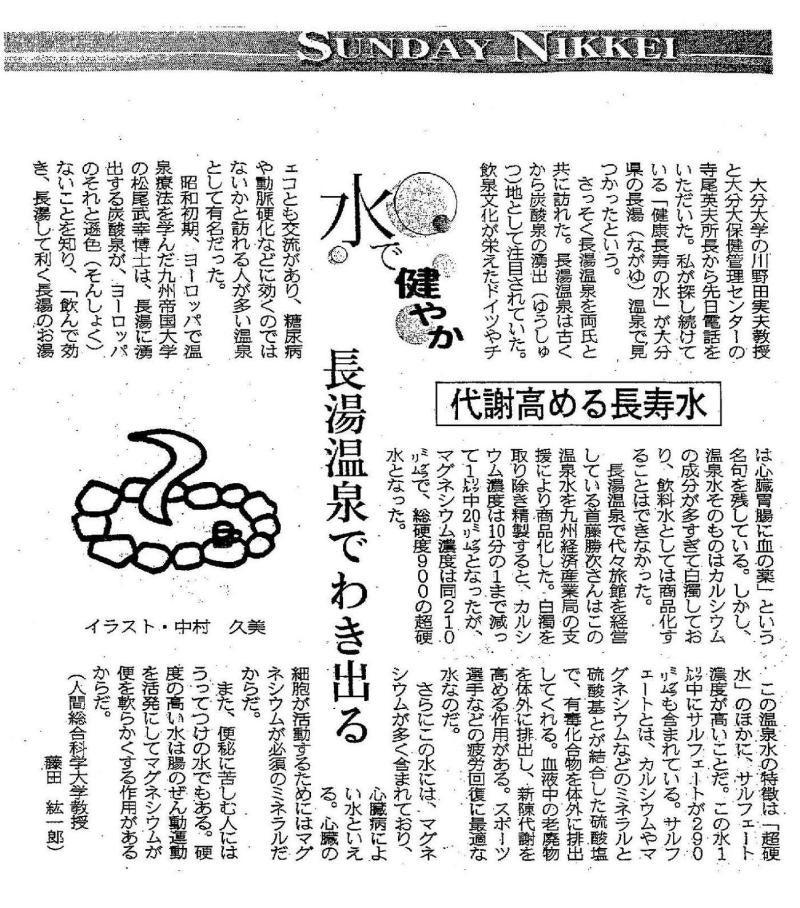 ゆうちゃんと水仙人-日経新聞
