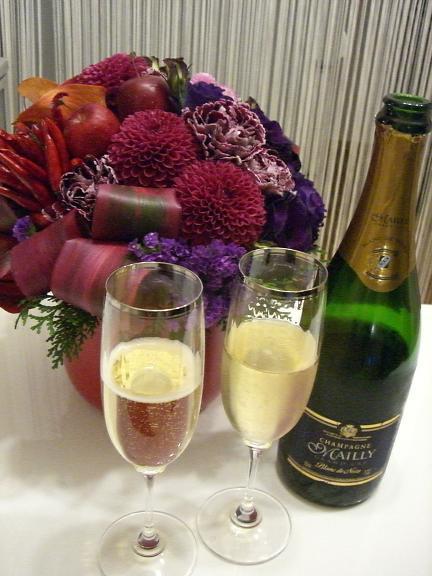 今日は何を飲む?-20091201_花とシャンパーニュ