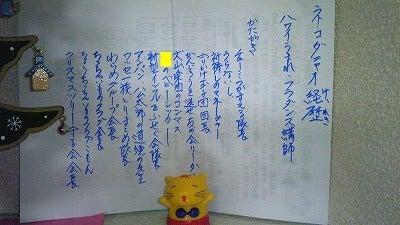 素尻同盟☆あほせぶろぐ-飾り棚・猫田ニャオ経歴。