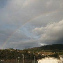 中津川の虹