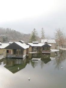おかずブログ-星のやには雪景色がよく似合う