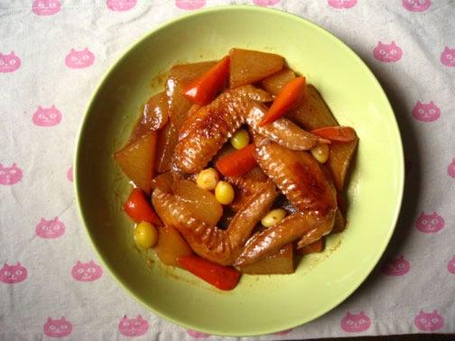 ひよこ食堂-手羽先と根菜の中華風煮物02