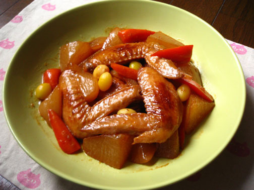 ひよこ食堂-手羽先と根菜の中華風煮物01