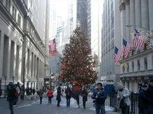 N.Y.に恋して☆-wall street christmas tree
