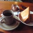 初茶店と近所の川..…