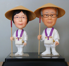 上賀茂からこんにちは。-88箇所巡り衣装 そっくり人形