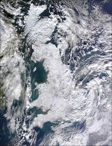 世界の涯て(World's End)からコンニチワ♪-雪のイギリス