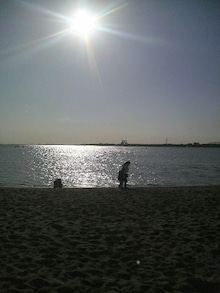 日々 更に駆け引き-浜辺