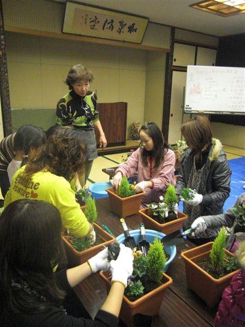 パサニアツリーのヒトリゴト ┗┫* ' v ' *┣-ツジママ寄せ植え講習会