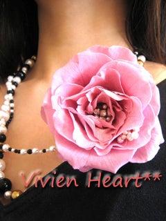 Vivien Heart** ~ヴィヴィアンハート~-コサージュ ピンク