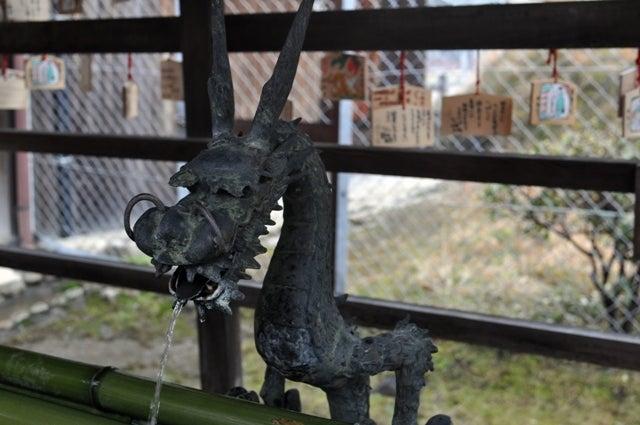 茶々吉とデジ一 のんびり旅-2010/1/31南円堂手水場