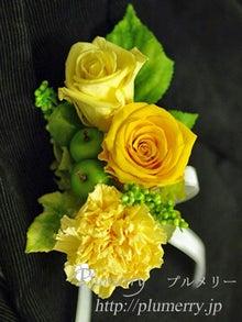 Plumerry(プルメリー)プリザーブドフラワースクール (千葉・浦安校)-イエロー系 ブートニア 新郎 結婚
