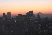 miyatake-宮武--窓から富士山と夕日