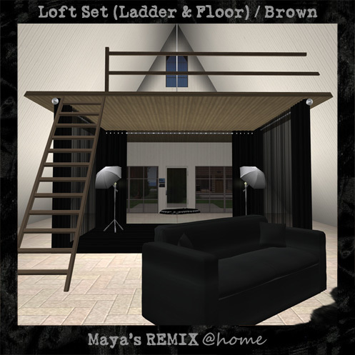 Maya's style / Second Life Fashion-Maya's REMIX @home loft set (Brown)