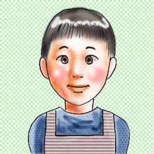 はんだのイラスト置場 ~3頭身-8頭身まで! 子育て絵師のおえかき館~-プロフ画
