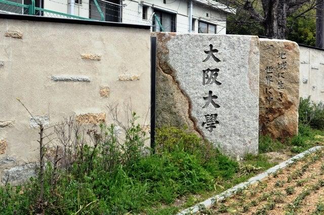 茶々吉とデジ一 のんびり旅-2010/3/28大阪大学正門