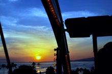 $楽園ハワイ通信 by Lani Tours-観覧車からみた夕日