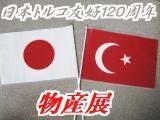 笑顔ええ顔串本町-日本・トルコ国旗