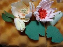$ろころん ろこ ろん ろ ころん-DECOクレイ(ソフト粘土) C3木蓮と睡蓮作りかけ