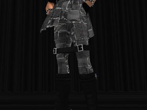 Maya's style / Second Life Fashion-ボンデージパンツディティール 1