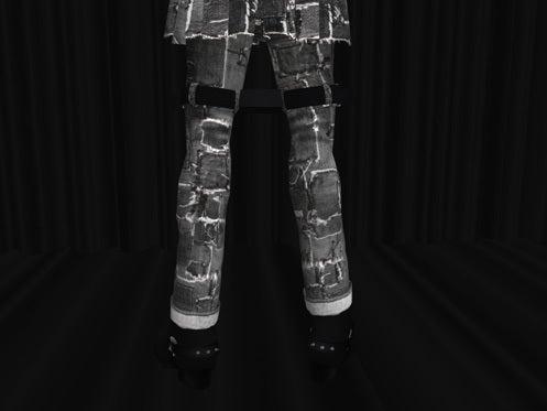 Maya's style / Second Life Fashion-ボンデージパンツディティール 2