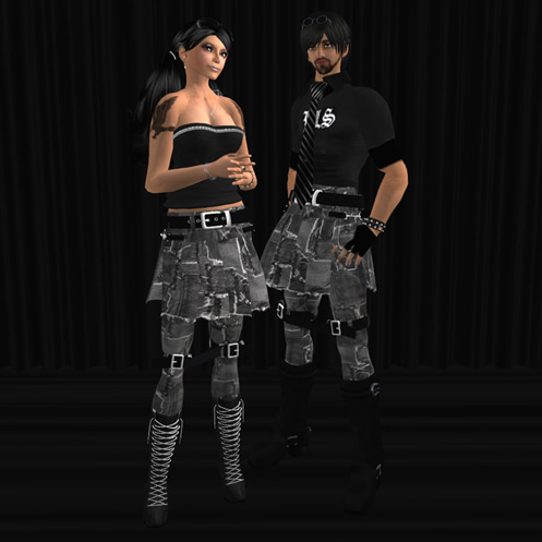 Maya's style / Second Life Fashion-デニムパッチワークボンデージパンツ Update !!