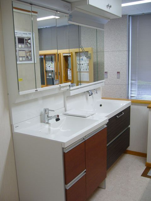 洗面化粧台の仕様検討