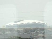 あゆ好き2号のあゆバカ日記-東北電力スタジアムが見えると、まもなく新潟
