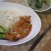 夕食☆油淋鶏飯の画像
