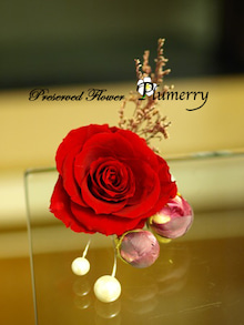 Plumerry(プルメリー)プリザーブドフラワースクール (千葉・浦安校)-和風バッグブーケ 手作り 髪飾り