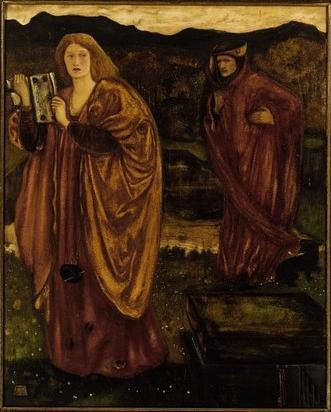 REMOVE-Merlin and Nimue from 'Morte d'Arthur' (1861), Victoria and Albert Museum