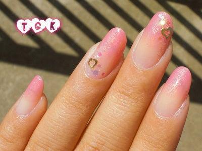 桃源郷 side-Nail-カワピンクなシロップネイル1