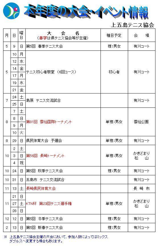 上五島テニス協会