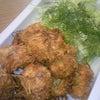 夕食☆ホタテのココナッツフライ  ささ身としめじの玉子スープの画像