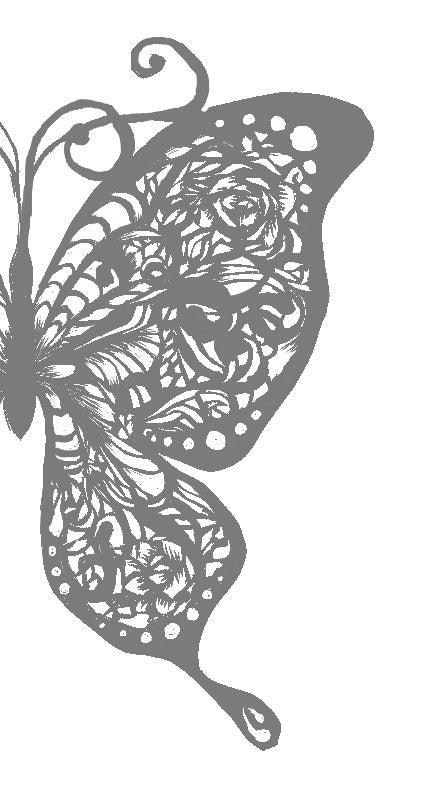 切ってもいいのよ蝶々 図案完成品 雅美の切り絵ブログ