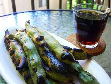 Campbell, CA ~ベイエリアでの暮らし~-今夜の夕食! そら豆のグリル