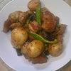 夕食☆豚肉と新じゃがのこっくりコチュジャン煮  長なすのそうめん風の画像
