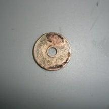 5円玉磨き。
