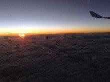うぃ~くえんど★ふぁ~ま~-カンタス航空からの朝日