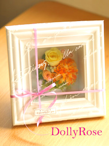 Plumerry(プルメリー)プリザーブドフラワースクール (千葉・浦安校)-ガラス付 フレーム プリ