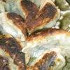 夕食☆シソ焼き餃子  水菜のサラダ  焼きアスパラの画像
