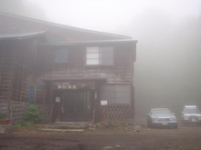 朝日温泉日記-朝靄に煙る温泉