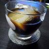 お家でアイスコーヒーの画像