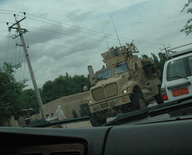 アフガニスタン便り-MRAP Armoured Vehicle