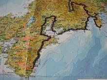 $歩き人ふみの徒歩世界旅行 日本・台湾編-東海地方歩きルート図