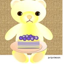 テディベアとケーキ